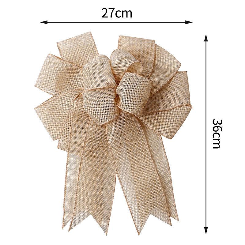 custom ribbon bow made by burlap ribbon
