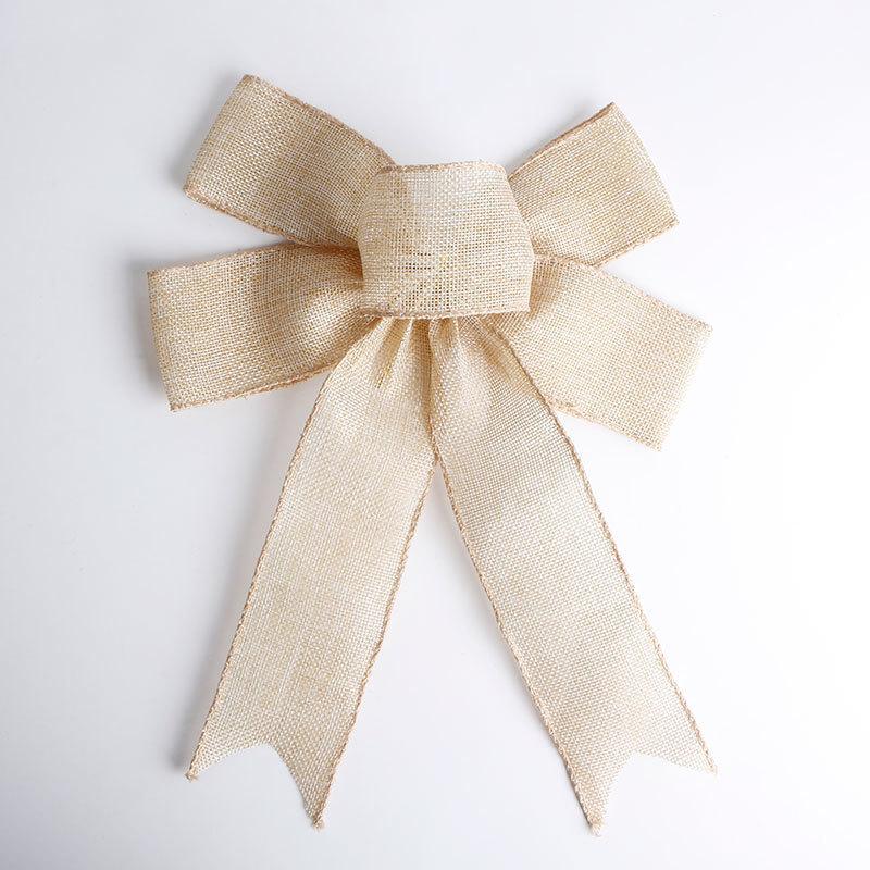 jute ribbon bow(4)