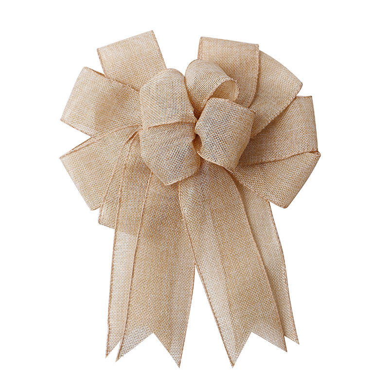 Ribbon Factory Wholesale Natural Burlap Ribbon Bow Christmas Wreath Bow