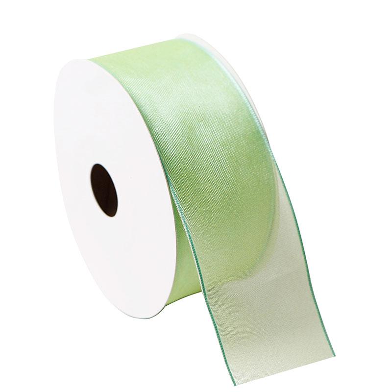 Custom Green Organza Ribbon Wired Organza Ribbon Wholesale