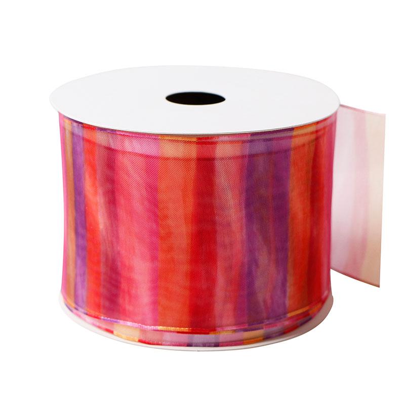 Colorful Organza Ribbons Chiffon Ribbon For Gift Packaging