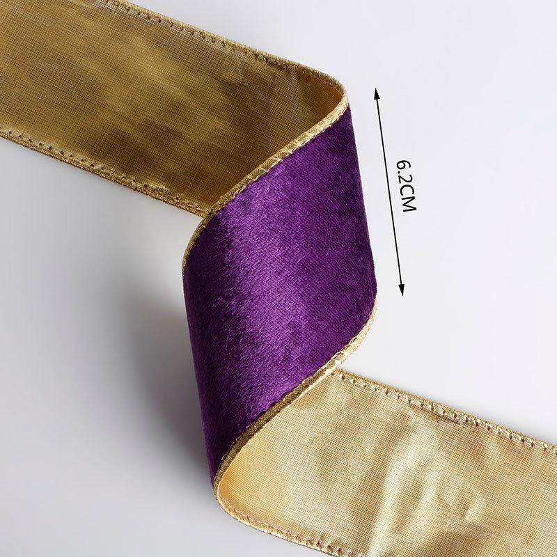 wired edge velvet ribbon 63mm