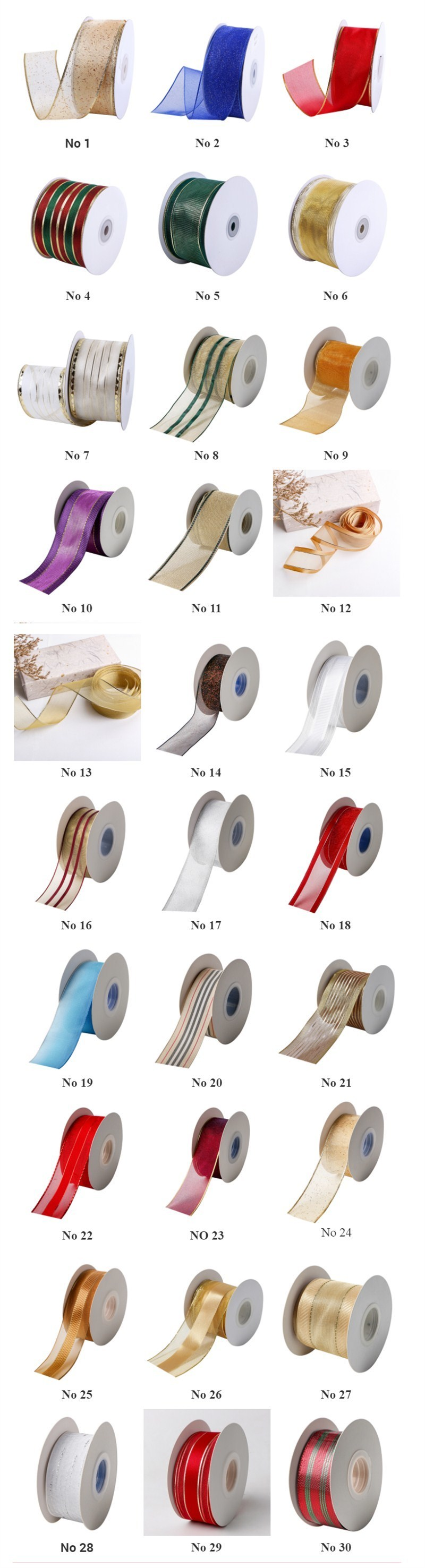 Wire edge organza ribbon (2)