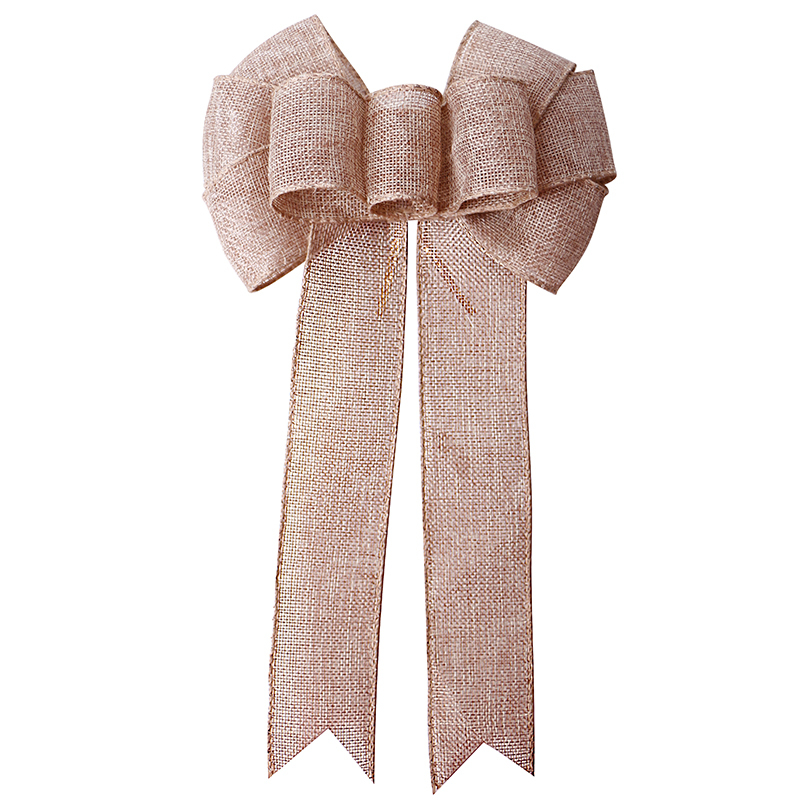 Wholesale Burlap Ribbon Bow Christmas Decorative Ribbon Bows