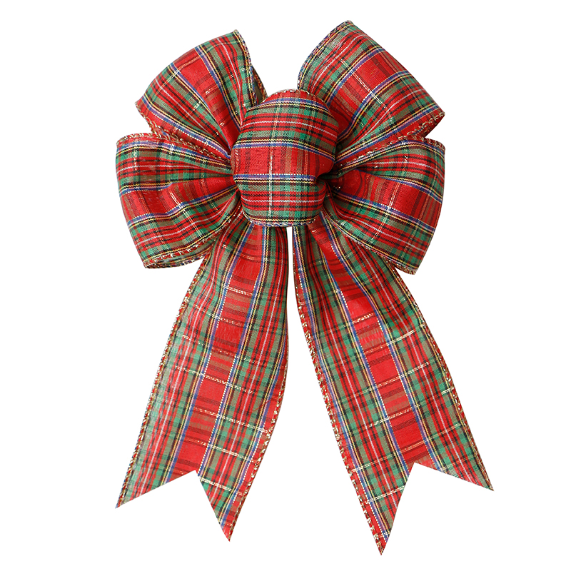 Pre-Tied Jute Burlap Bows Wired Craft Ribbon Christmas Bow