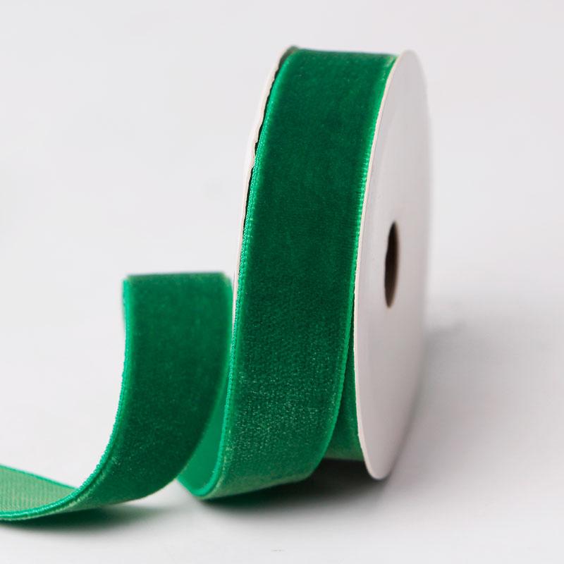 Xmas Ribbon Green Velvet Ribbon Wholesale Velvet Ribbon Factory Quote
