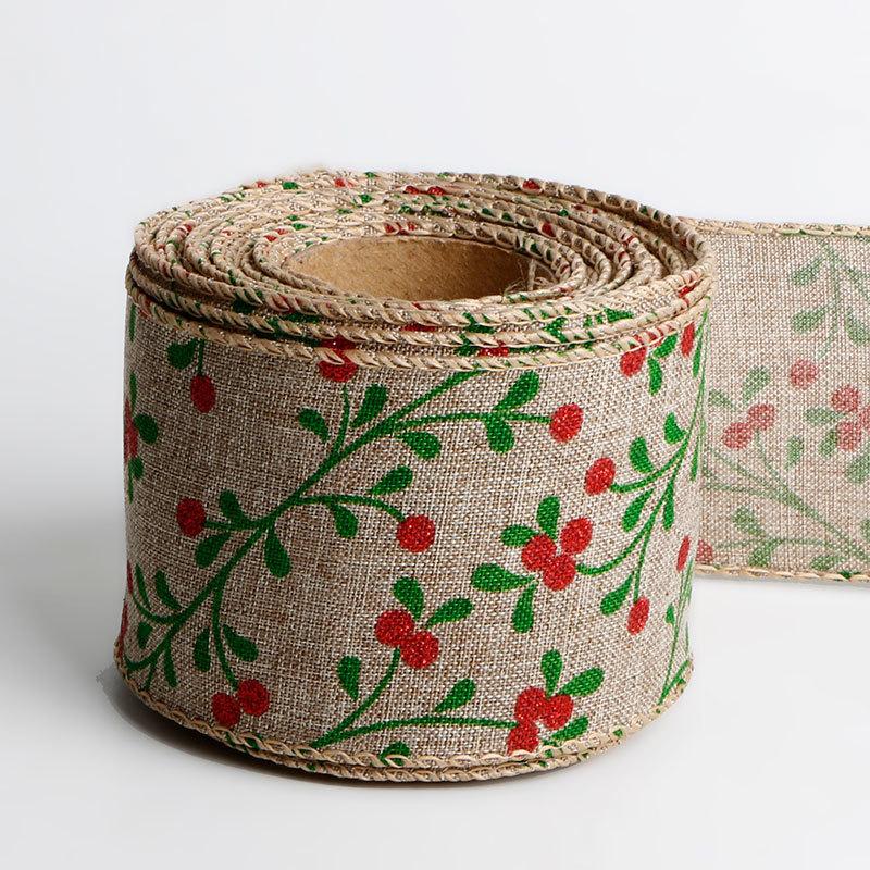 printed burlap ribbon