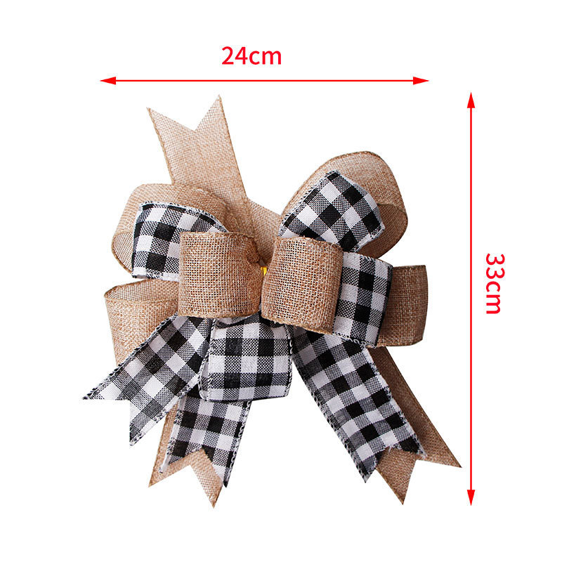 pre made burlap ribbon bow for Christmas decoration