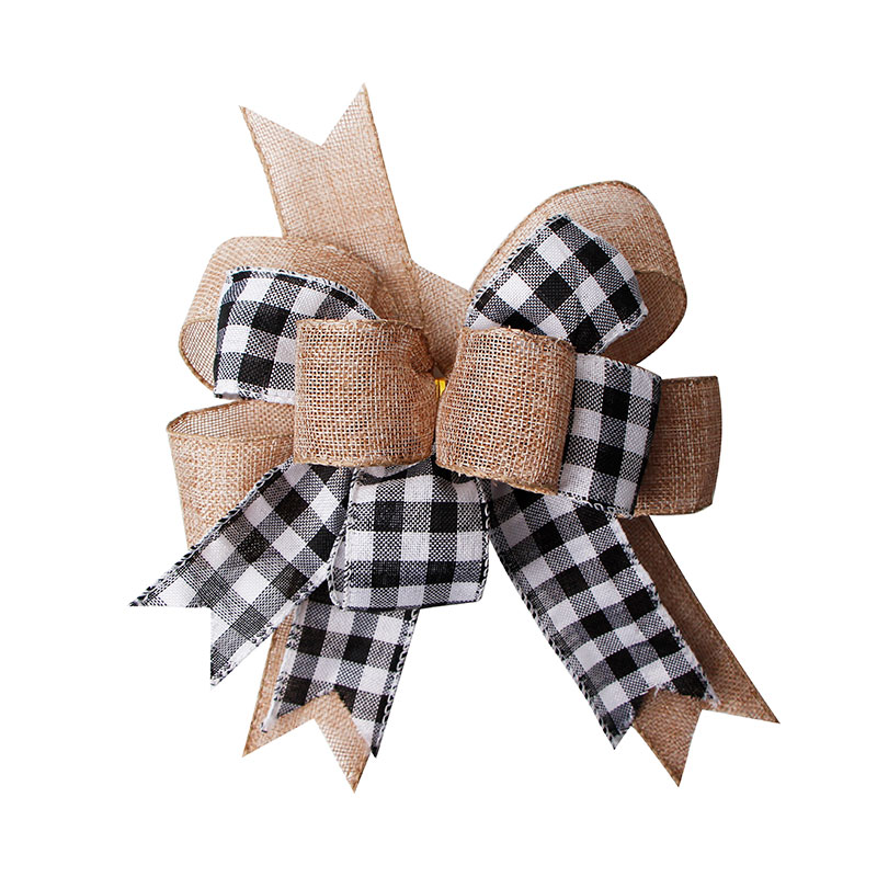 Wired Burlap Ribbon Bows DIY Burlap Bow for Christmas Tree Decoration