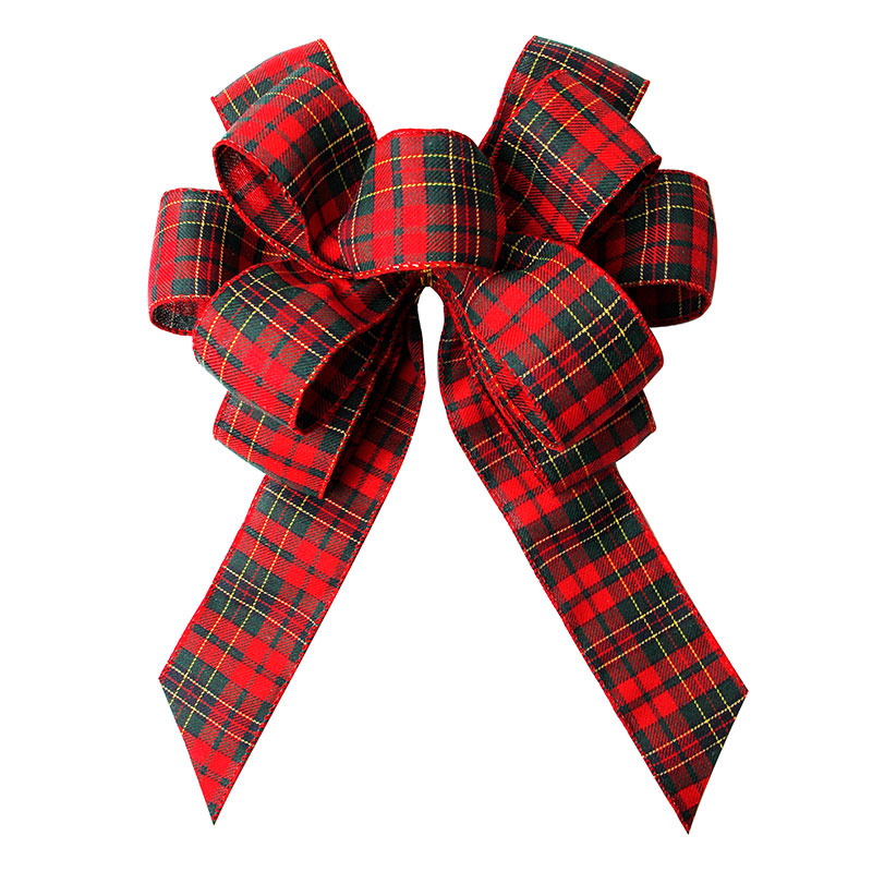 Christmas Red Bow Holiday Burlap Bows for Christmas Wreath Decoration