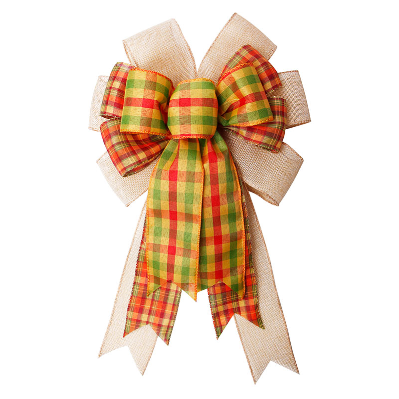 Three-layer Bow Burlap Ribbon Bow for Chairs