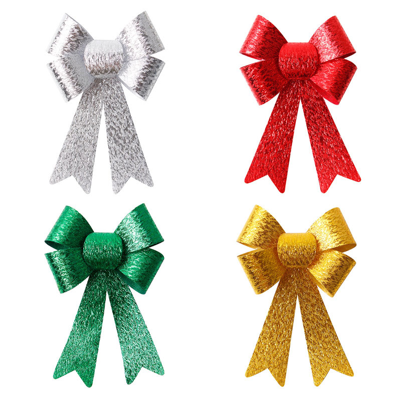 Custom PVC Ribbon Bow Red Holiday Decorative Ribbon Bows