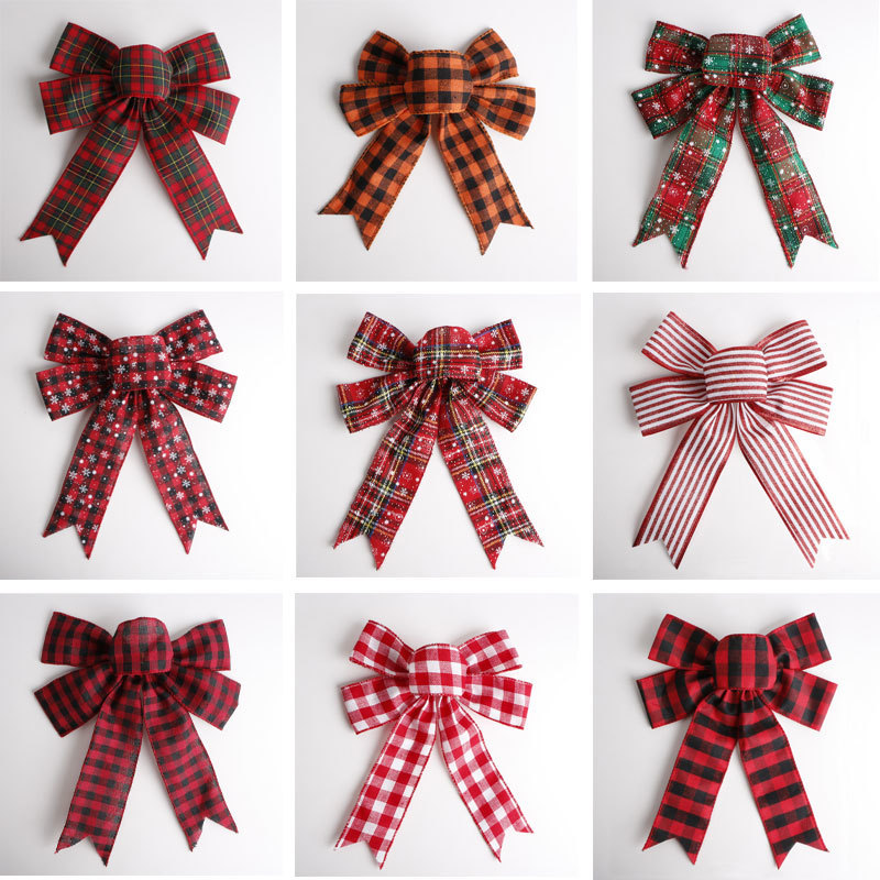 pre made burlap ribbon bow for sale