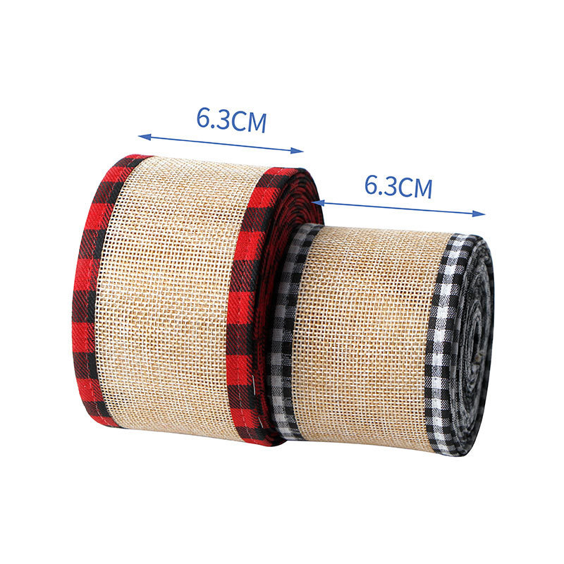 63mm wired burlap ribbon