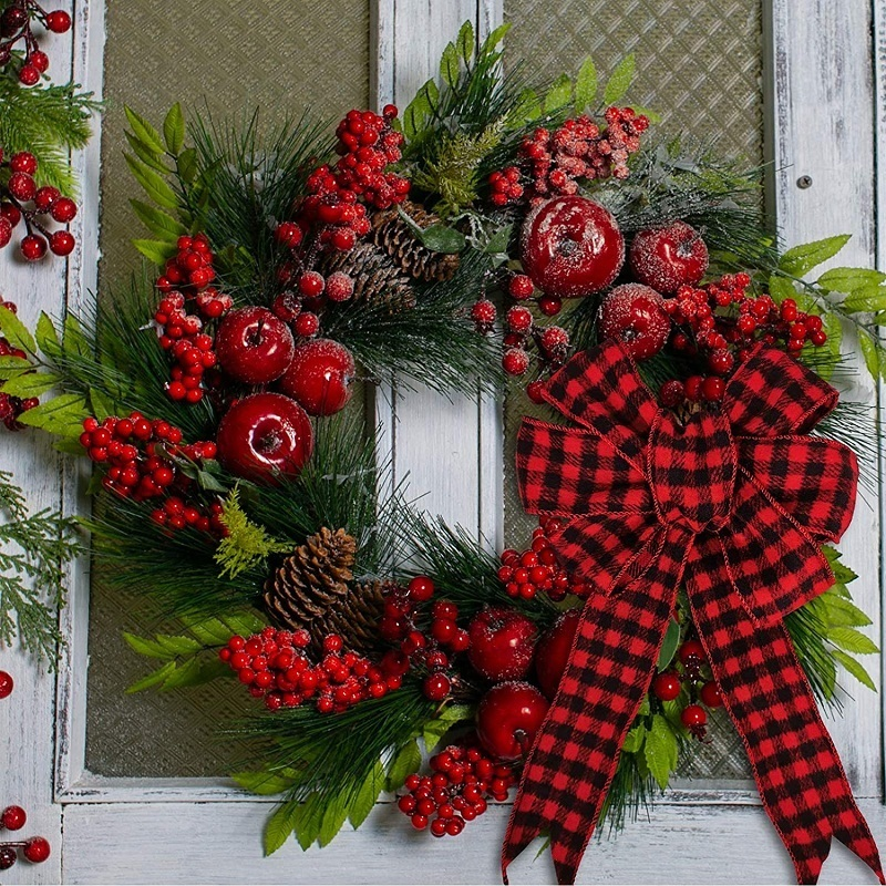 wired ribbon for wreaths
