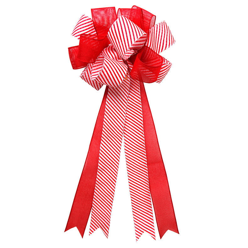 red wired Christmas bows