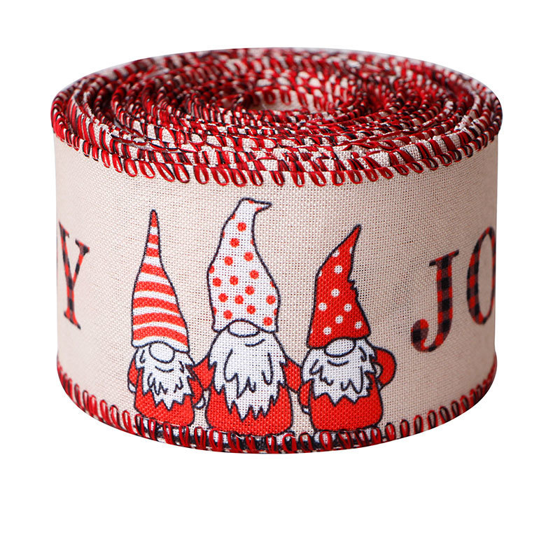 Christmas wired ribbon