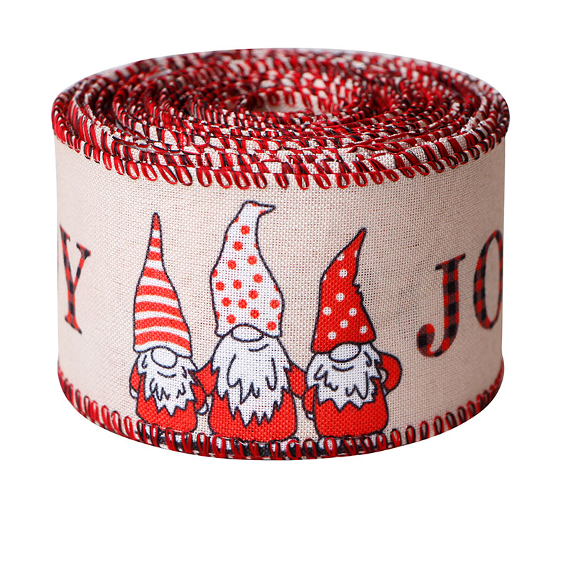 Christmas Wired Burlap Ribbon Holiday Christmas Design Decorations Wrapping Ribbons