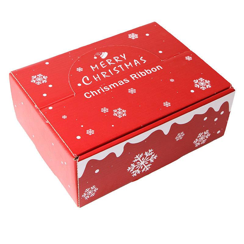 Christmas ribbon gift box