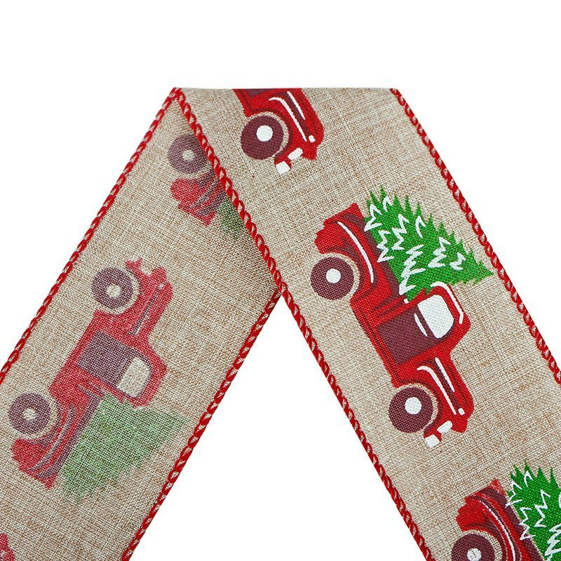 Christmas wired edge ribbon
