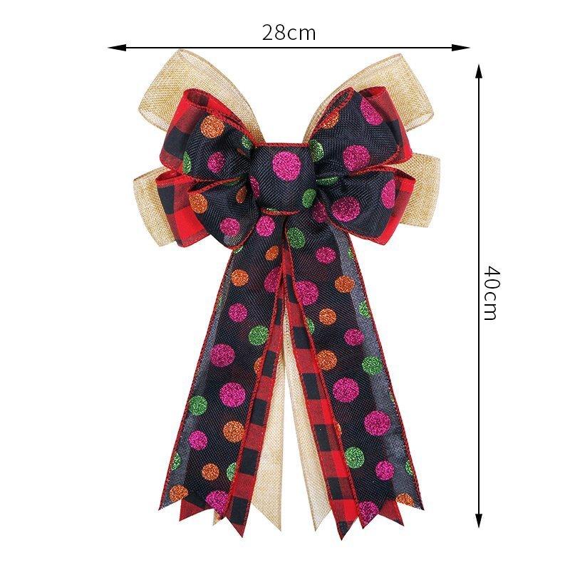 Holiday Decorative Wreath Bow