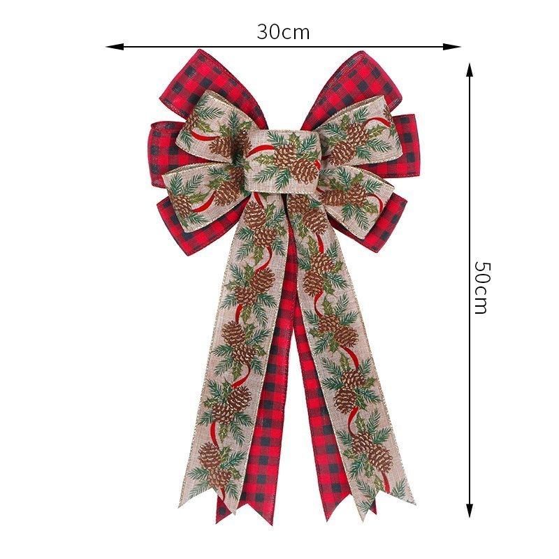 Large Wreath Ribbon Bow