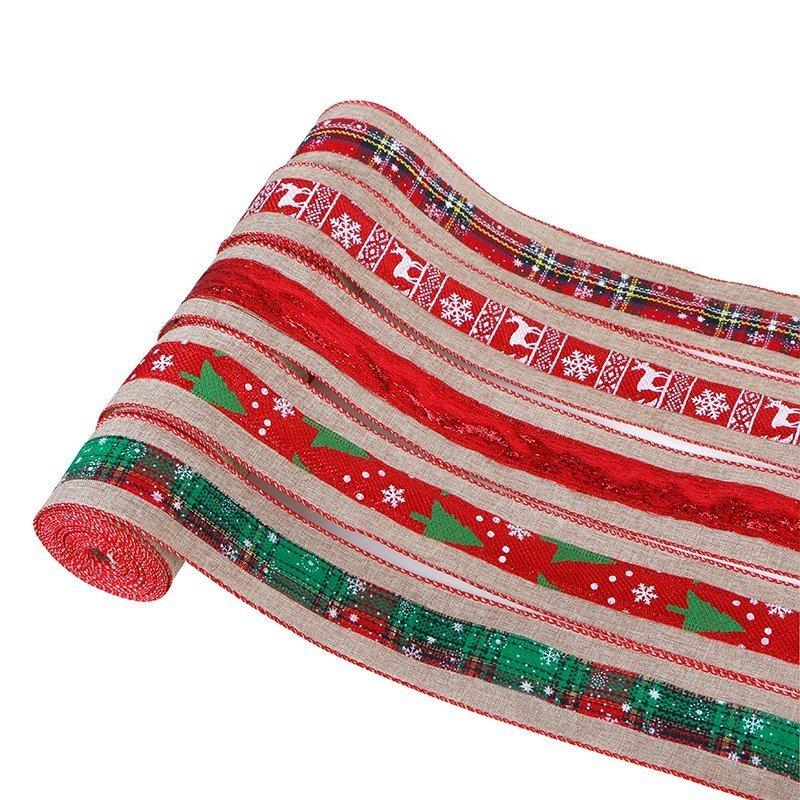 Merry Christmas Burlap Ribbon