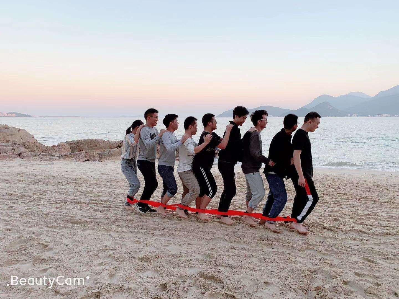 大鹏沙滩团建游戏  南澳公司团建活动  深圳海边沙滩团建  南澳沙滩趣味运动会