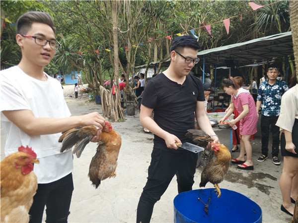 农家乐抓鸡