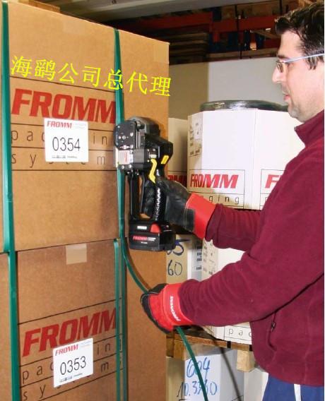 意大利原装进口电动塑钢带打包机FROMM P328打包样品2