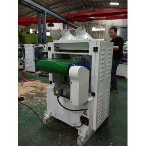 螺旋刀轴工业型输送带履带式单面压刨木机