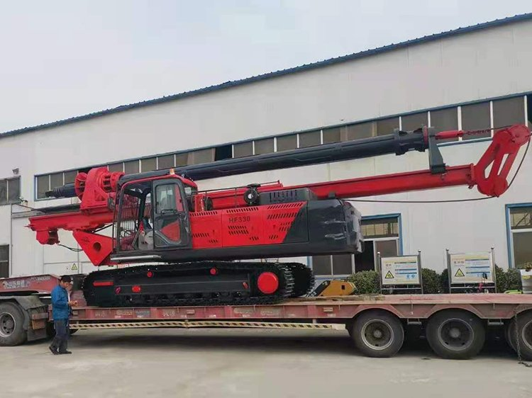 Delivery site of small rotary drilling rig