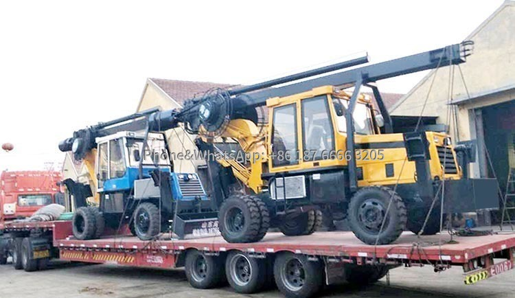 Photos of Wheeled Rotary Drilling Rigs