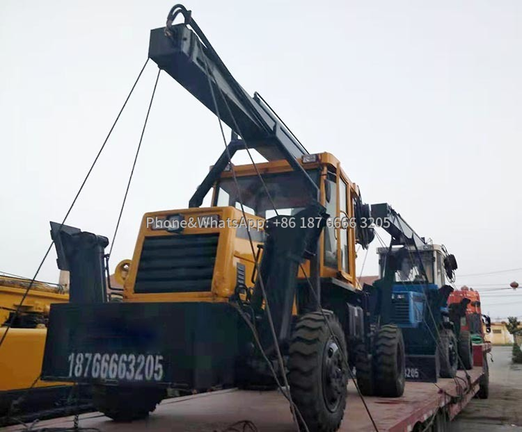 Small tire drill rig delivery picture