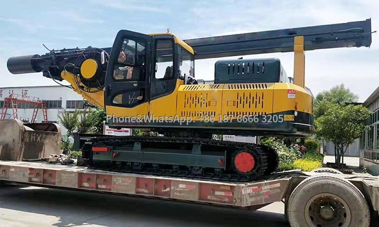 Shipping picture of hydraulic rotary drilling rig