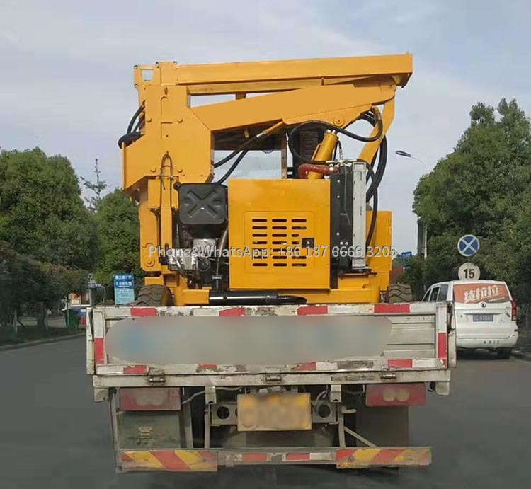 Shipment picture of Highway Guardrail Pile Drilling Machine