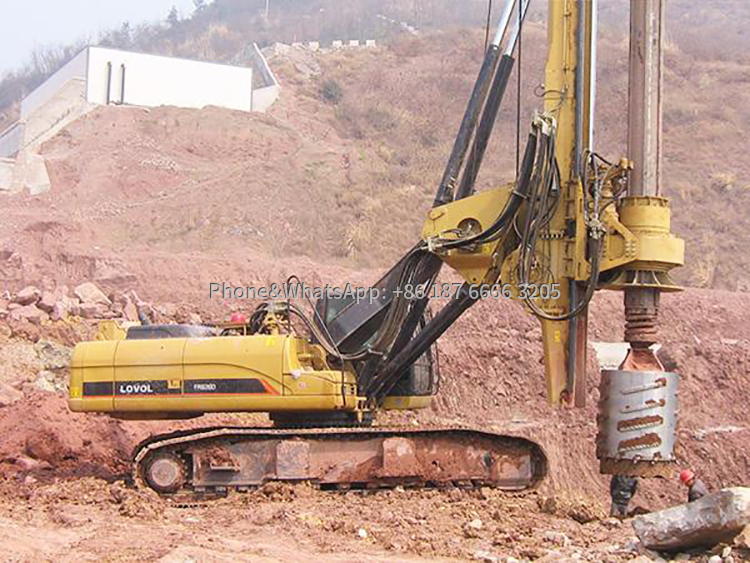 Pile drilling machine positioning picture