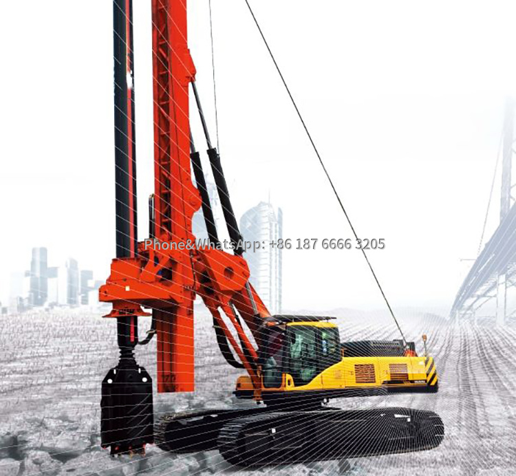 Rotary drilling rig is a machine for drilling piles. This is a picture of a pile rig.