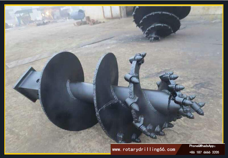 Picture of picket auger bits commonly used in rotary drilling rigs