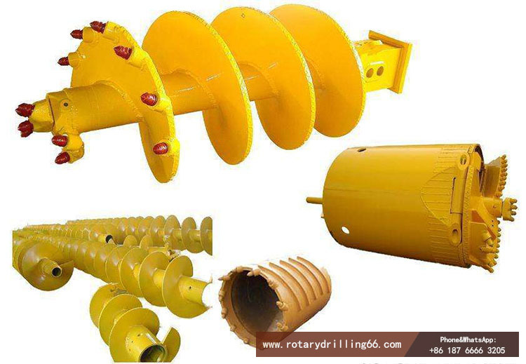 Picture of various types of rotary drilling rig bits