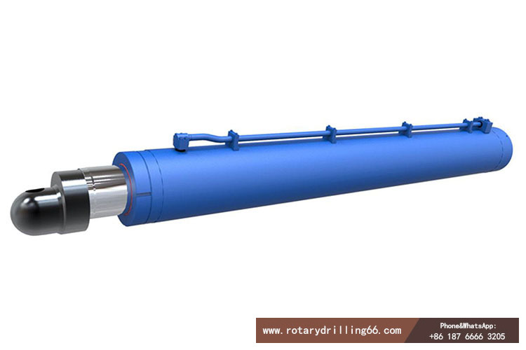 Hydraulic cylinder for pile drilling machine