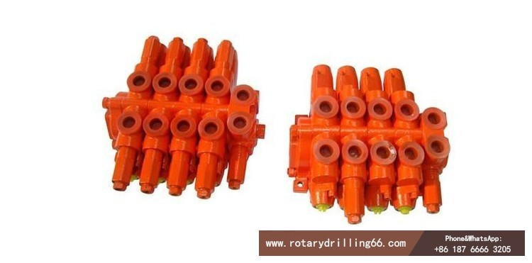 Hydraulic valve for pile drilling machine