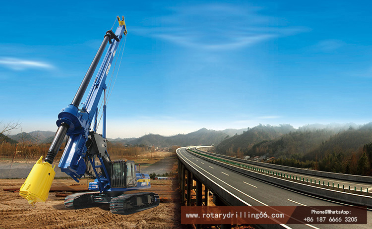 Rotary drilling rig is the main model for concrete pile construction
