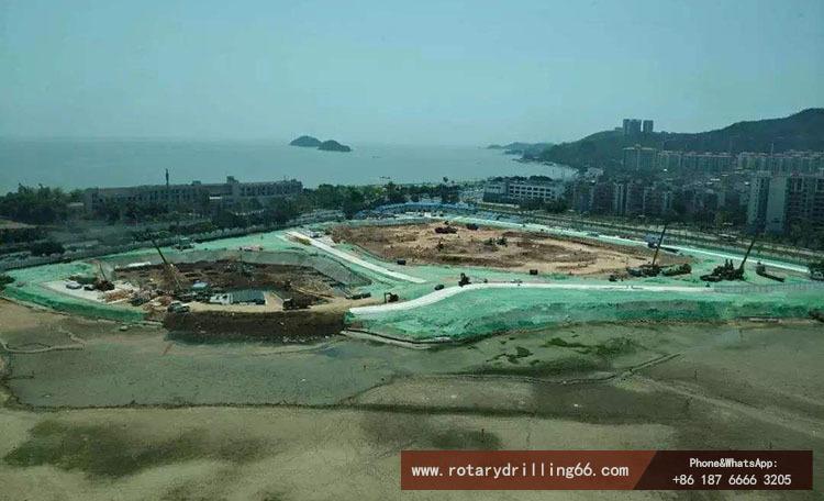 Sandy soil construction picture