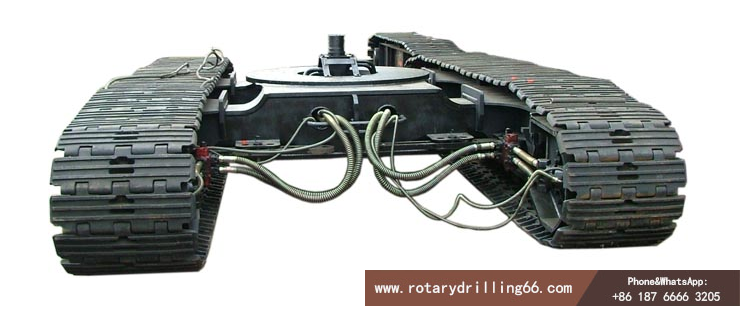 Picture of crawler rotary drilling rig walking chassis