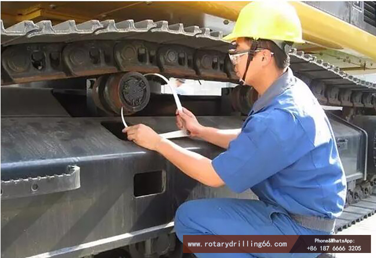 Inspection picture of crawler rotary drilling rig walking mechanism