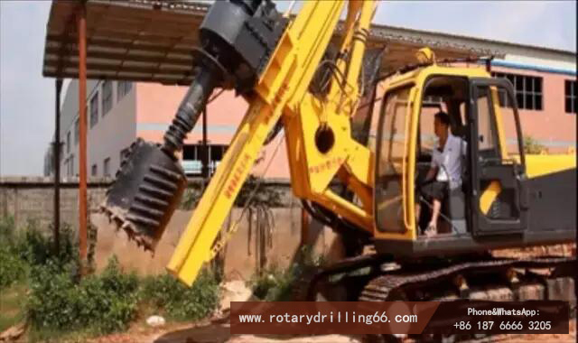 Picture of rotary drilling rig entering construction site