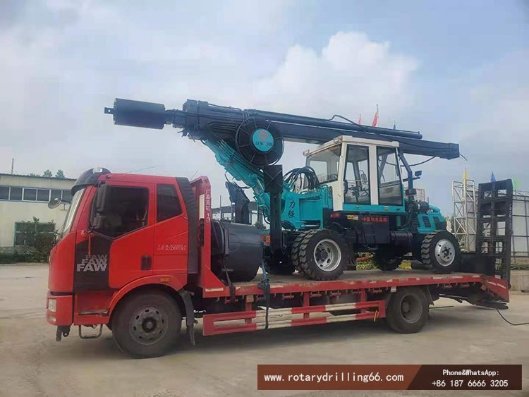 Delivery picture of wheel rotary drilling rig