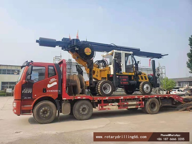 Delivery of small rotary drilling rig