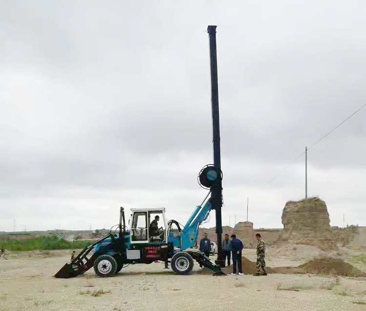 180-13 Wheeled Rotary Drilling Rig is a new type of pile driver